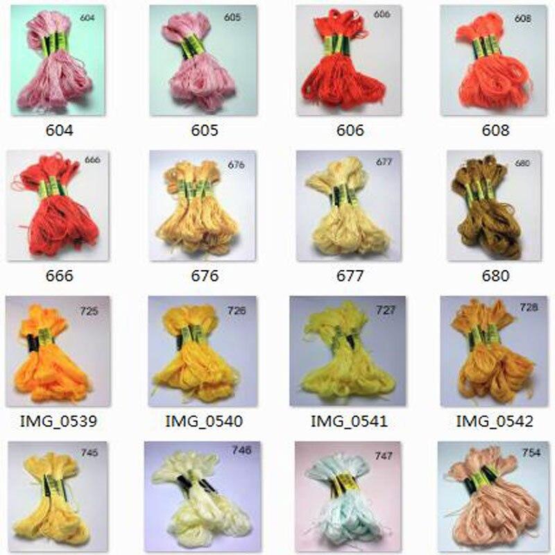 10 pieces  cross stitch    threads   / cross stitch embroidery thread / Custom   threads  colors 07
