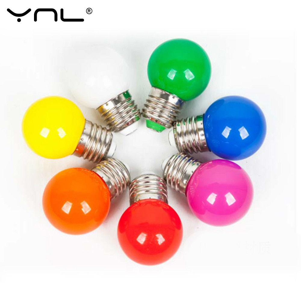 Lampada LED Lamp Colorful Bombillas Lamparas E27 G45 220V ColorfulLed Bulb Home Decor Lighting Lampada Bubble Led Bulbs