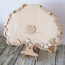 Boîte à goutte rustique personnalisée en forme darbre   Livres dor de mariage, livres dor alternatives cœurs décorations pour fête de réception