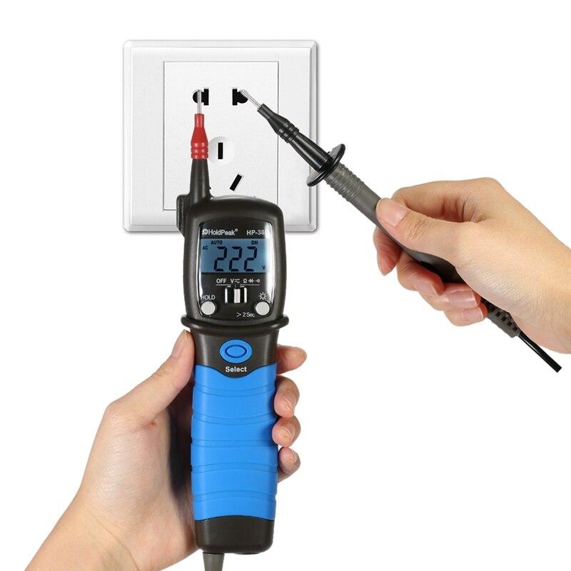 Tipo portátil caneta multímetro digital dc & ac tensão medidor de resistência lcd positivo diodo tensão queda audível continuidade tester