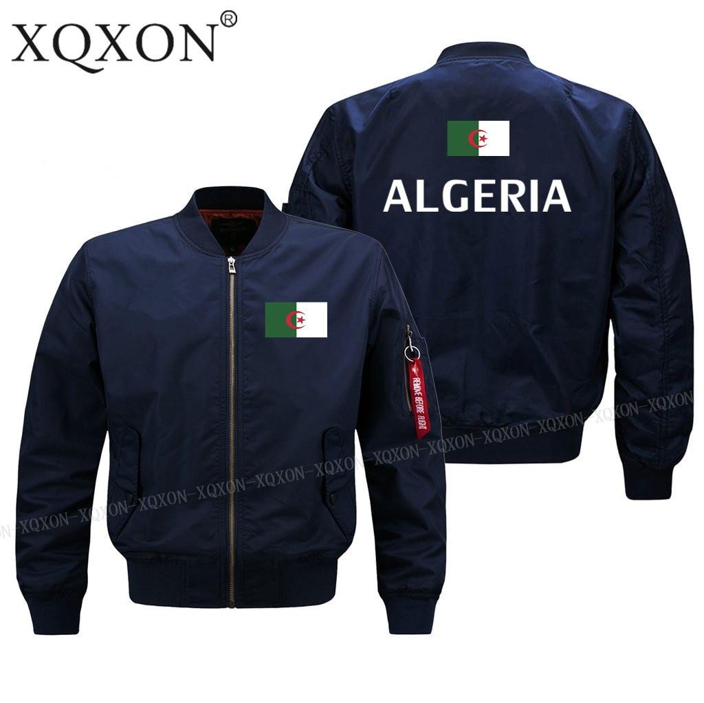 Новый-алжирский флаг, куртки, повседневные модные новые мужские пальто, куртки с принтом, мужские военные куртки, женская модель J148