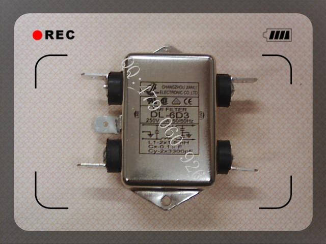 [ZOB] Jianli EMI Filtro de potencia DL-6D3 -- 10 unids/lote