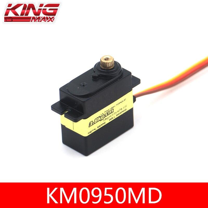 Kingmax KM0940MD KM0950MD Metal Digital Servo núcleo de hierro impermeable 13g/17g dirección timón para aviones RC ala fija DIY enlarge