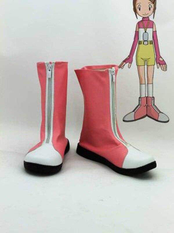 Digimon Adventure Yagami Hikari zapatos de Cosplay botas para mujeres adultas Halloween fiesta Cosplay botas hechas a medida