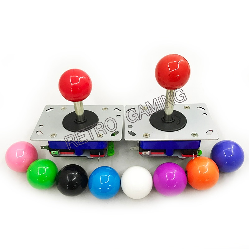 Бесплатная доставка, 2 шт./компл., 4, 8 способа работы, аркадный джойстик Zippy для игровой автомат для аркад, переключаемый шар, DIY Stick