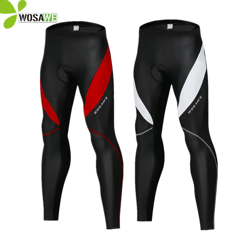 WOSAWE Slim hombres ciclismo medias pantalones impermeables de lana térmica en parte montaña MTB bicicleta pantalones Gel reflectante pantalones de bicicleta,