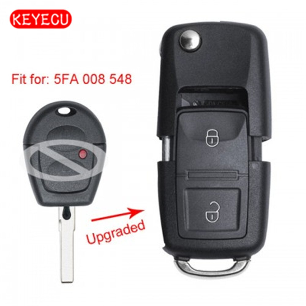 Keyecu Модернизированный дистанционный ключ-брелок от машины 433 МГц ID48 для Seat Ibiza Cordoba Arosa Leon 2002-2009 P/N 5FA 008 548