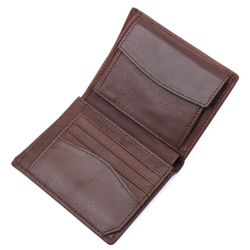 SIKU genuine leather men wallets handmade purse famous brand wallet male