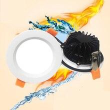 Imperméable/prévention des incendies LED Downlight IP65 LED Downlight Spot lumineux 12W/9W/7W/5W Super lumineux AC220V encastré plafonnier