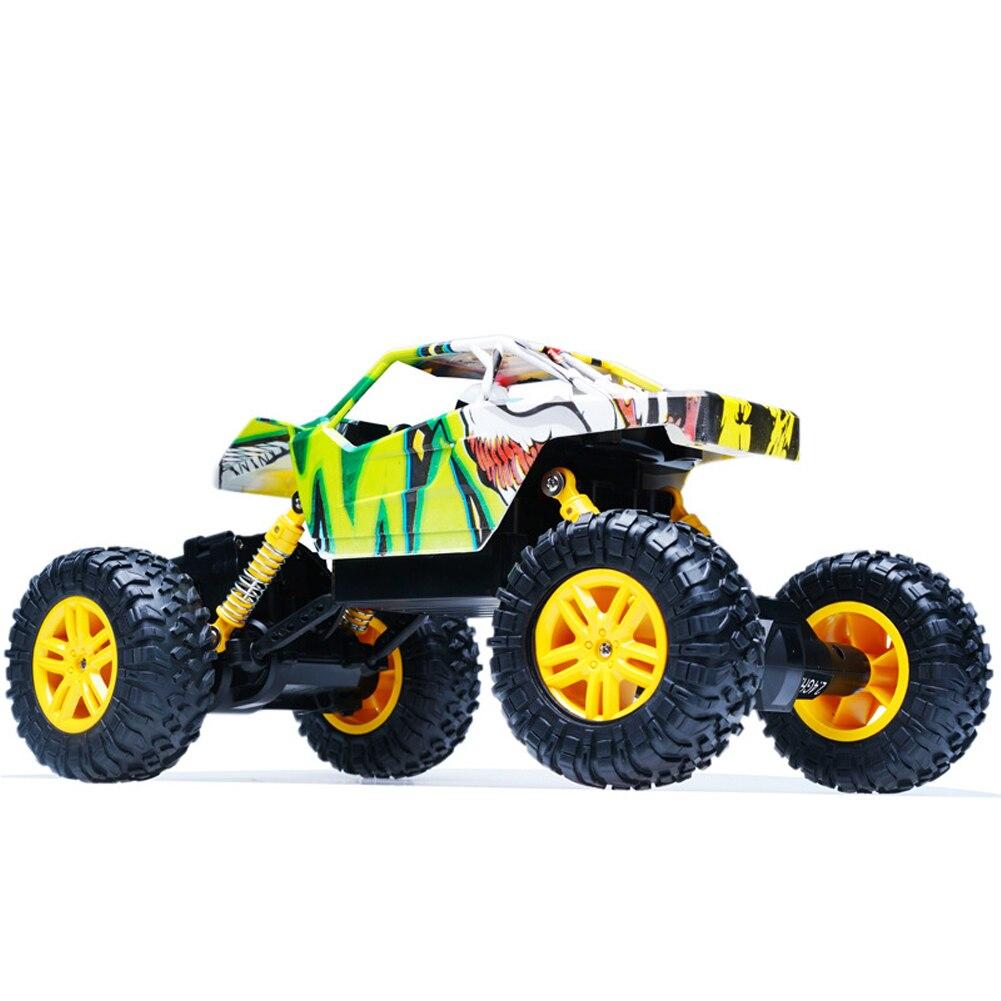 Conducción de cuatro ruedas vehículo eléctrico Drift 360 grados gira Graffiti profesional Durable fuera de carretera regalo al aire libre RC coche suspensión