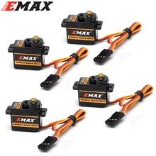 4 pièces/lot EMAX ES08MA II Mini engrenage métallique Servo analogique 12g/ 2.0kg/ 0.12 Sec Mg90S