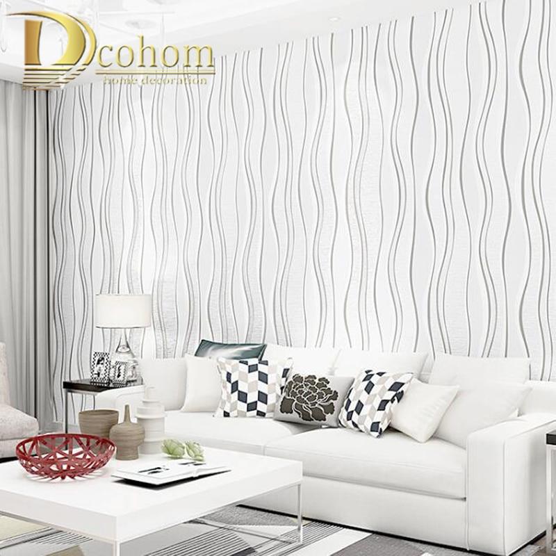 Papel tapiz metálico de papel de aluminio de lujo, blanco, gris, para pared, rollo de papel de pared plateado, papel tapiz de rayas geométricas