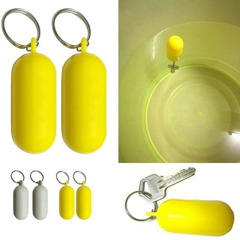 1PC brelok pływanie Drifting plaża żółty pływający brelok pływanie niezbędny morski żaglówka Float Canal Portable