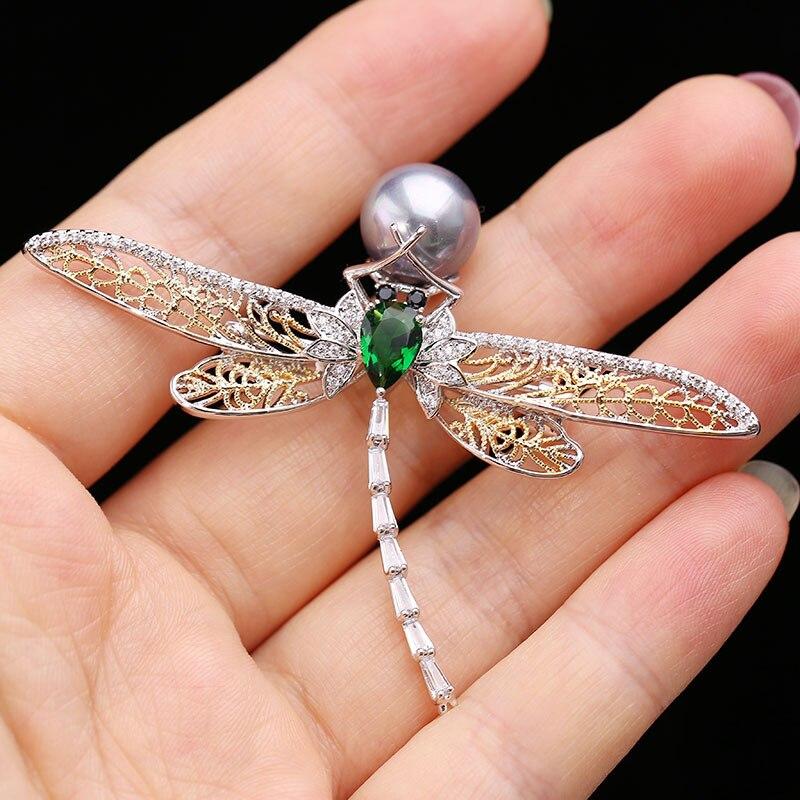 Muy cristal Zirconia cúbico de Broach broche de PIN colgante de la joyería de las mujeres accesorios HR04047
