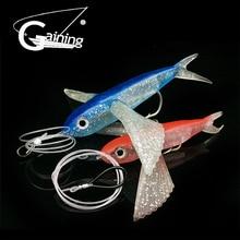 Gaining Fishing Lure Seawater Fishing Bait Flying Fish Lure Boat Trolling Tuna Mackerel Soft Baits Soft Lure Fishing Tackle