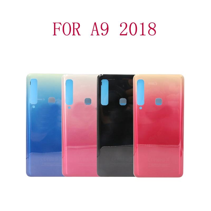 شحن مجاني 20 قطعة A9 2018 عودة غطاء البطارية الباب الخلفي لوحة الزجاج الإسكان حالة لسامسونج غالاكسي A9 برو ستار A920 A920F
