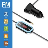 new dual usb charger fm transmitter car stereo hands free call audio music player led display