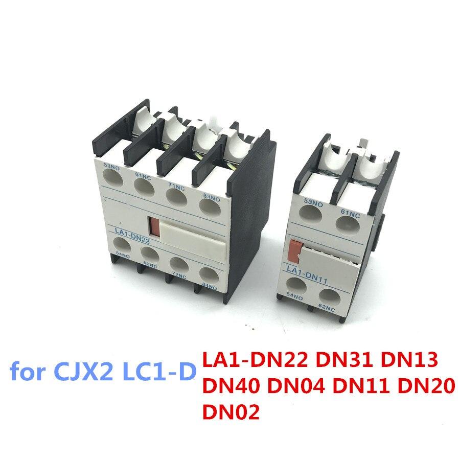 Kontaktör bloğu Yardımcı yardımcı kontak LA1-DN22 DN31 DN13 DN40 DN04 DN11 DN20 DN02 için CJX2 LC1-D AC Kontaktör