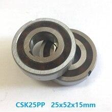 100 stücke CSK25PP 25mm Eine Möglichkeit Kupplung Lager Mit dual nut 25x52x15mm Klemmkörper Freilauf backstop Lager 25*52*15mm
