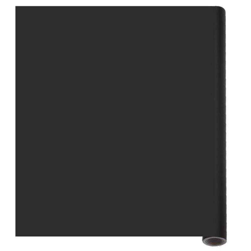 200*60cm PVC Waterproof Blackboard Sticker Movable Children Graffiti Writing Board w/ 5pcs chalks for School Office Home Black