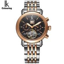 IK colouring hommes montre saphir cristal 10ATM étanche Auto Date jour affaires automatique Auto-vent mécanique homme montre-bracelet