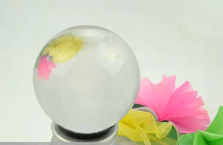 Bola de cristal transparente de 90MM/truco de Magia de contacto-Bola de malabares, escenario, Magia de primer plano, accesorios, juguetes de Magia, broma, Gadget