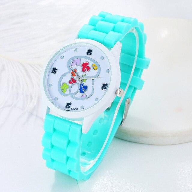 10 farben mode sport silikon uhr Frauen Luxus Marke Bär Quarz Frauen Kleid Uhren relogio feminino naiset Kello