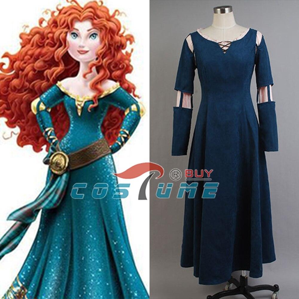 Wysokiej jakości odważny księżniczka Merida kostiumy na Halloween dla kobiet wykonane na zamówienie