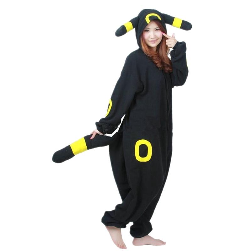 Disfraz de Pokémon Umbreon de Anime, traje de Kigurumi para adultos, pijamas de Onesies, sudaderas con capucha monos para fiesta de Halloween y Carnaval