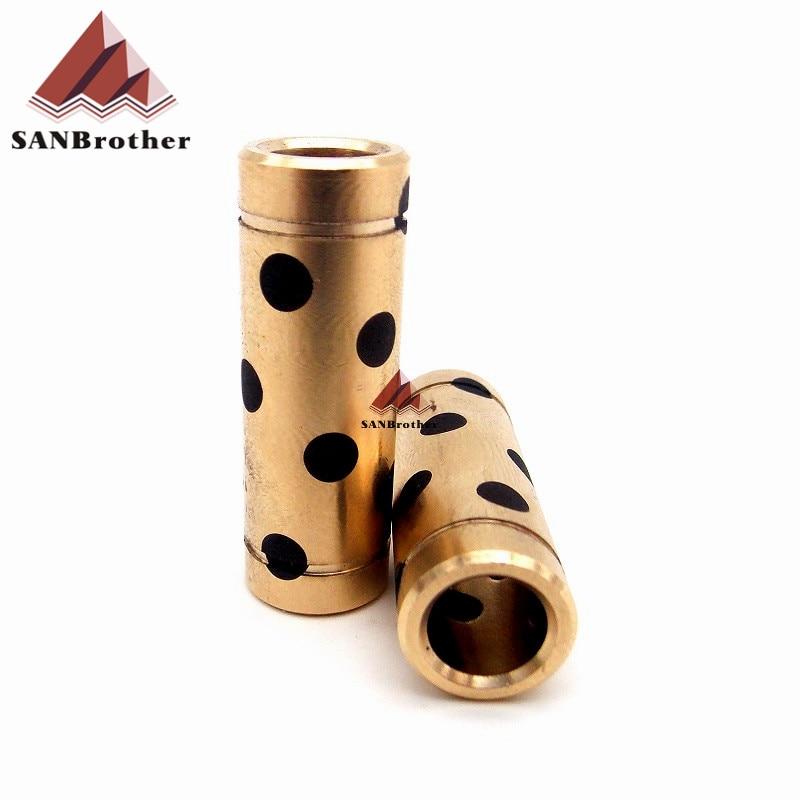 Hot! SANJIUPrinter 3D Printer DIY Parts Ultimaker 2 DIY Parts 8mm Graphite Bearing with JDB Solid Copper Sleeve for Slider Block