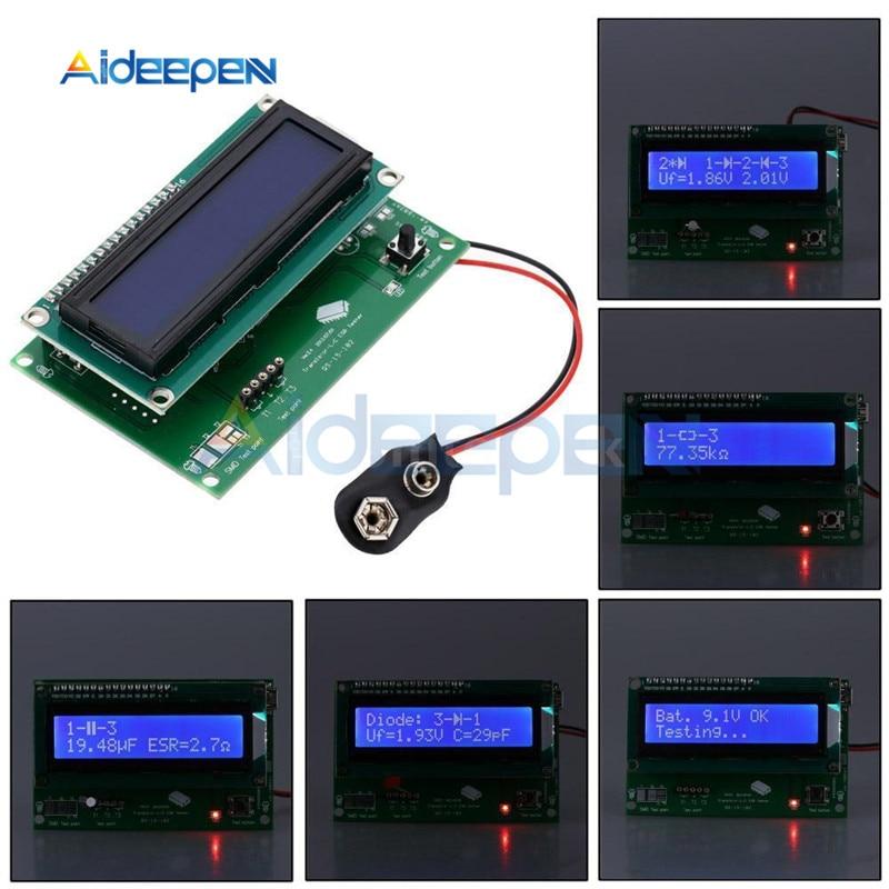 TS-M8N LCD Display Transistor Tester Diode Triode Capacitance Resistor ESR Meter MOSFET NPN/PNP 9V 40mA