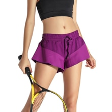 2 en 1 femmes Tennis Skorts 2017 nouveau deux pièces Fitness Sport pantjupes respirant Anti fuite Yoga Jogging Shorts jupes