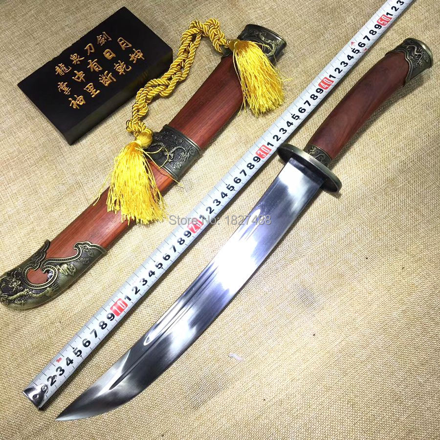 Нож ручной работы из красного палисандра Сая китайского дао меча династии Цин