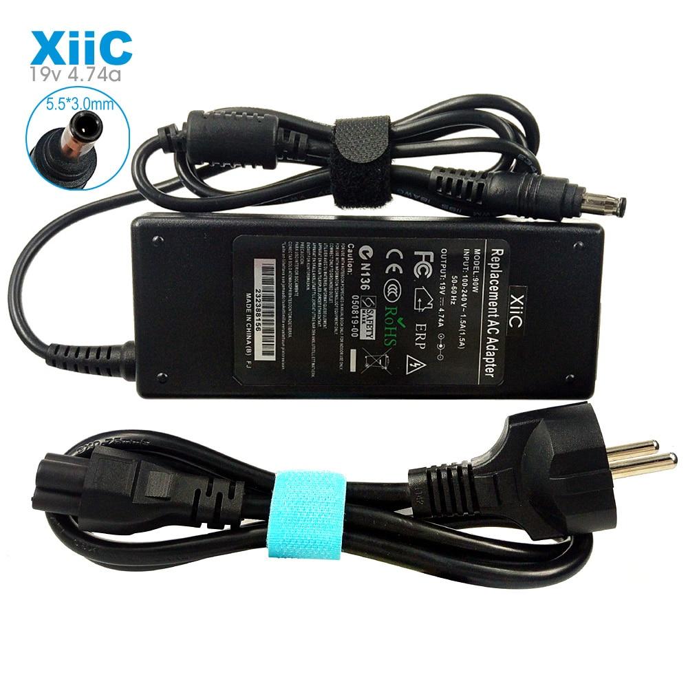 19V 4.74A 5,5*3,0 мм AC адаптер питания для ноутбука Зарядное устройство для SAMSUNG Np350v5c Np355v5c R540 R530 R510 R580 R428 R720 R780E с кабелем