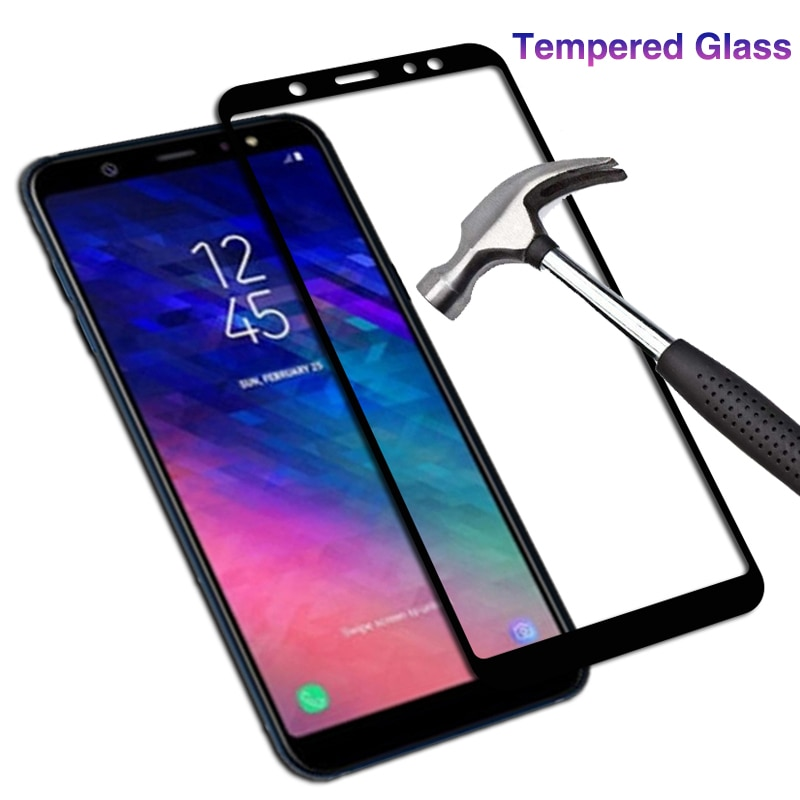 9D клеевое Защитное стекло для samsung galaxy a6 plus 2018 6a a 6 a6plus a62018 tremp закаленное стекло для защиты экрана galax