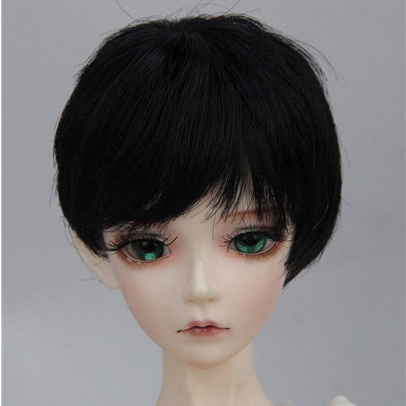 Hot Sale Fashion 1/6 1/4 1/3 Wig Blonde Brown Short  BJD Doll Wigs Black