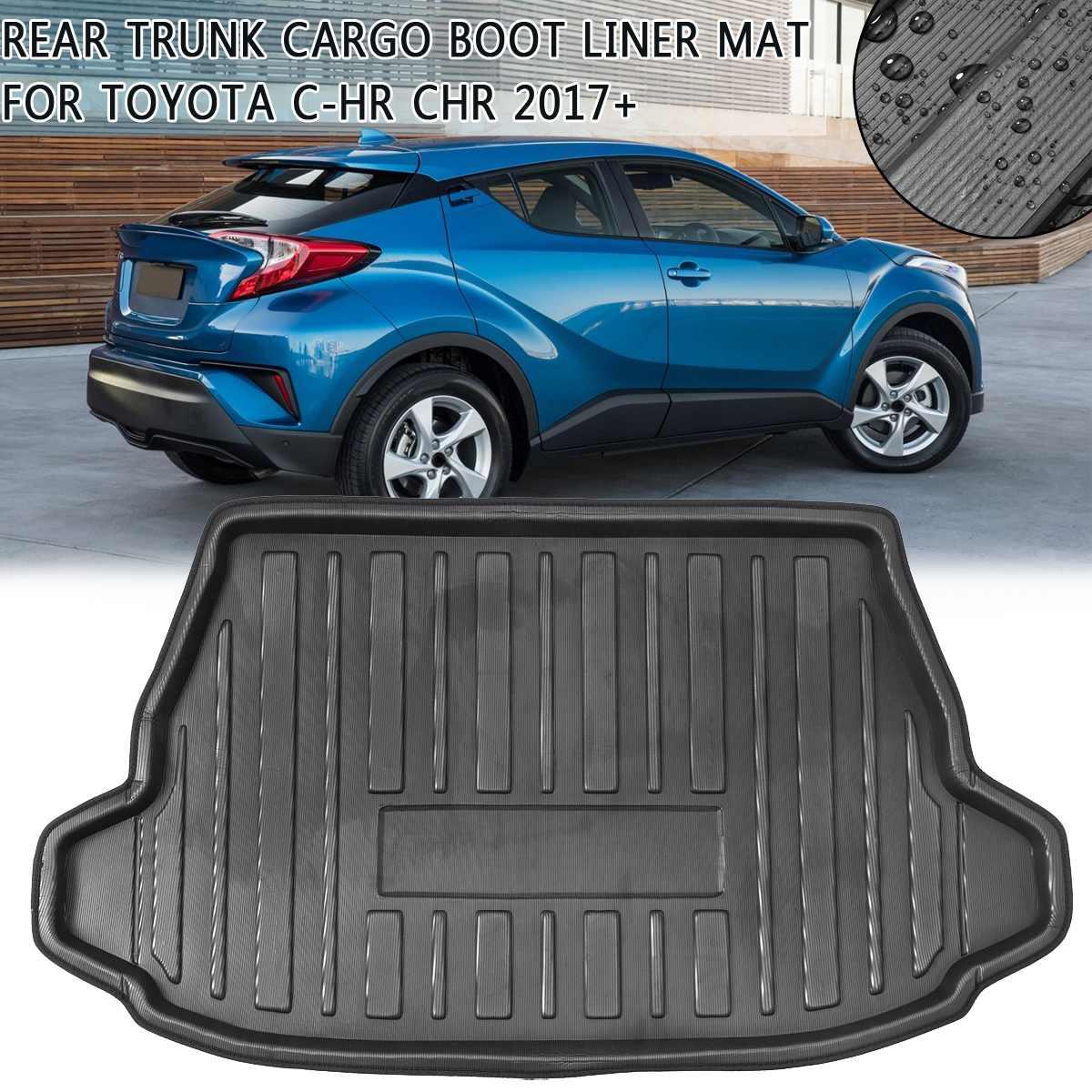 Boot Mat wkładka do bagażnika Toyota C-HR CHR 2017 2018 2019 + Cargo podłoga podkładka wykładzinowa Mud Pad Kick Guard Protector wodoodporna