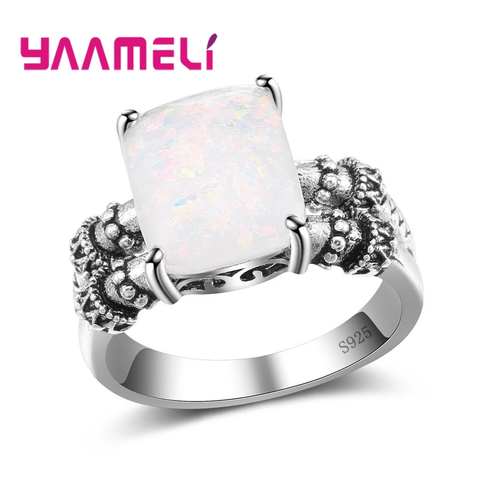 Новинка, 925 пробы серебряные аксессуары, красивые кольца на палец, ювелирные изделия, амулет, розовый опал, цена по акции
