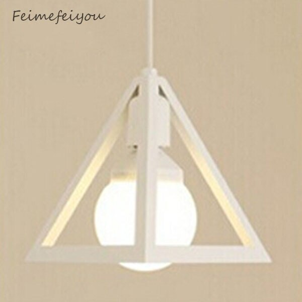 Feimefeiyou Art Deco Vintage triángulo Industrial colgante luz restaurante Bar Loft comedor Sala Droplight