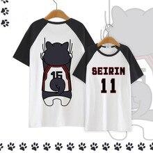 4 colores Kuroko's Basket ball Seirin 11 Kuroko camiseta de Tetsuya Cosplay disfraz Kuroko No Basuke Camiseta de algodón de manga corta