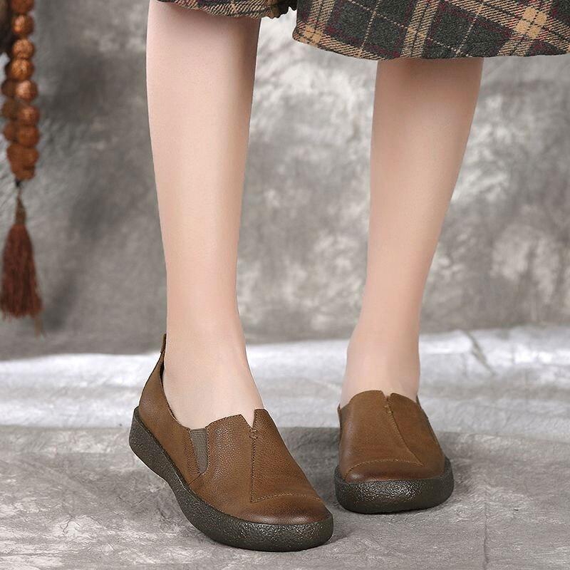 Sapatos de couro Tendão inferior Retro Depilação Sapatos de Couro Aumentar quintal Grande