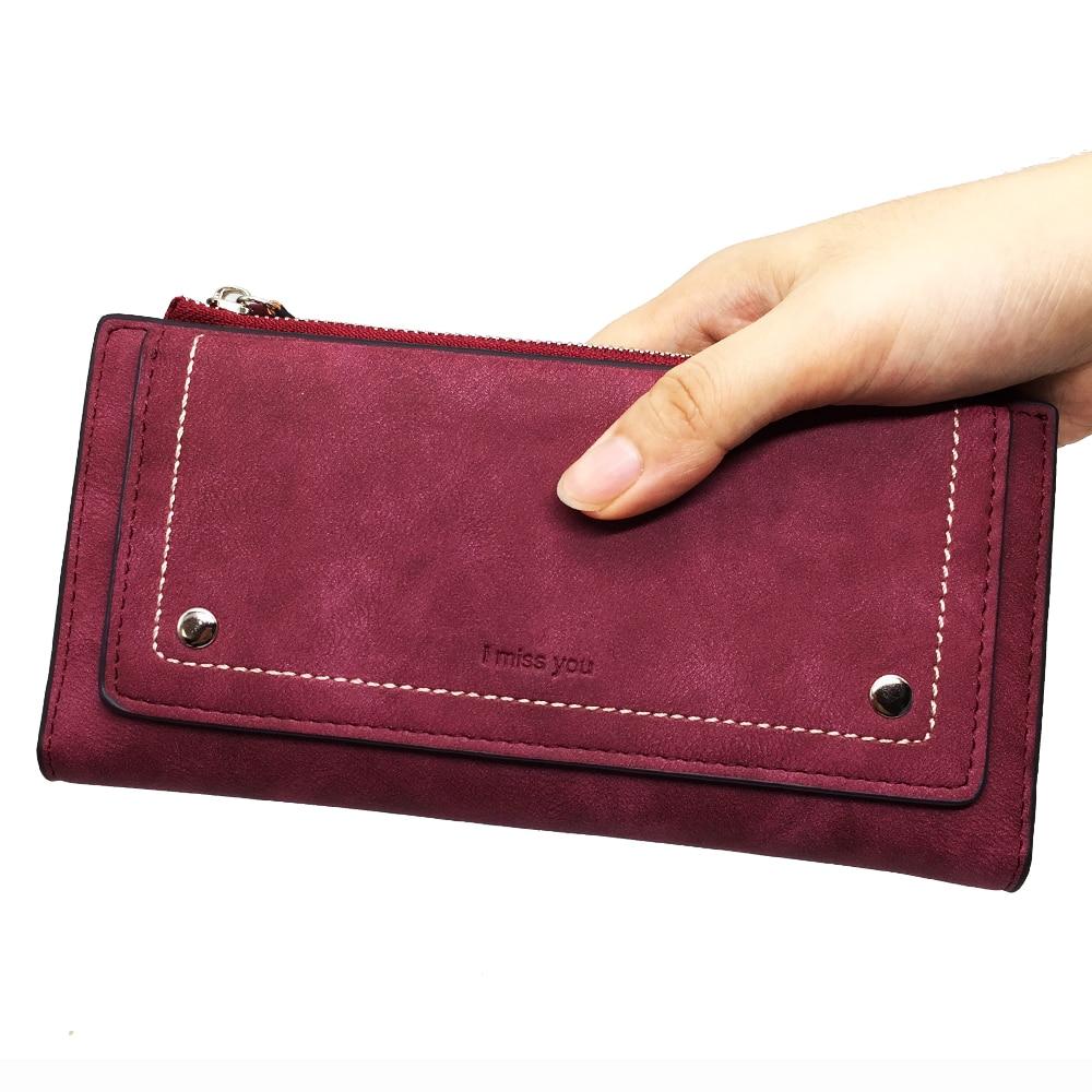 Nova moda feminina carteira 2020 couro do plutônio longo feminino carteira de alta qualidade cores sólidas moeda bolsa telefone bolso