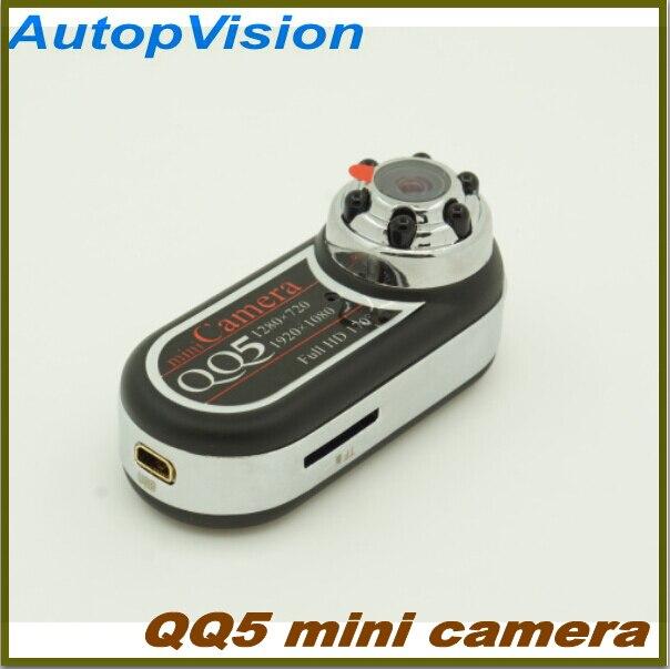 10 piezas gratis shippingQQ5 Mini cámara Full HD 1080 P 720 P visión nocturna infrarroja DV videocámara Cámara 12MP Mini cámara web gran angular 170
