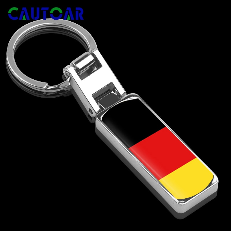 German flag 3D Metal Keyring Keychain for Mercedes-Benz Volkswagen Audi BMW Opel kia Renault Volvo Key Ring Chain Car-Styling