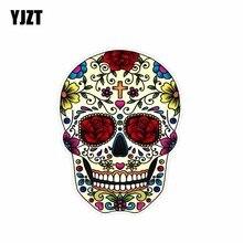 YJZT 9.9CM*13.2CM Personality Accessories Sugar Skull Decal PVC Car Sticker 6-0093