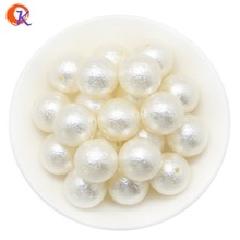 Design cordial 100 pçs/lote 20mm moda grânulos acessórios marfim winkle grânulos de pérolas grossas abs pérola para fazer jóias kit
