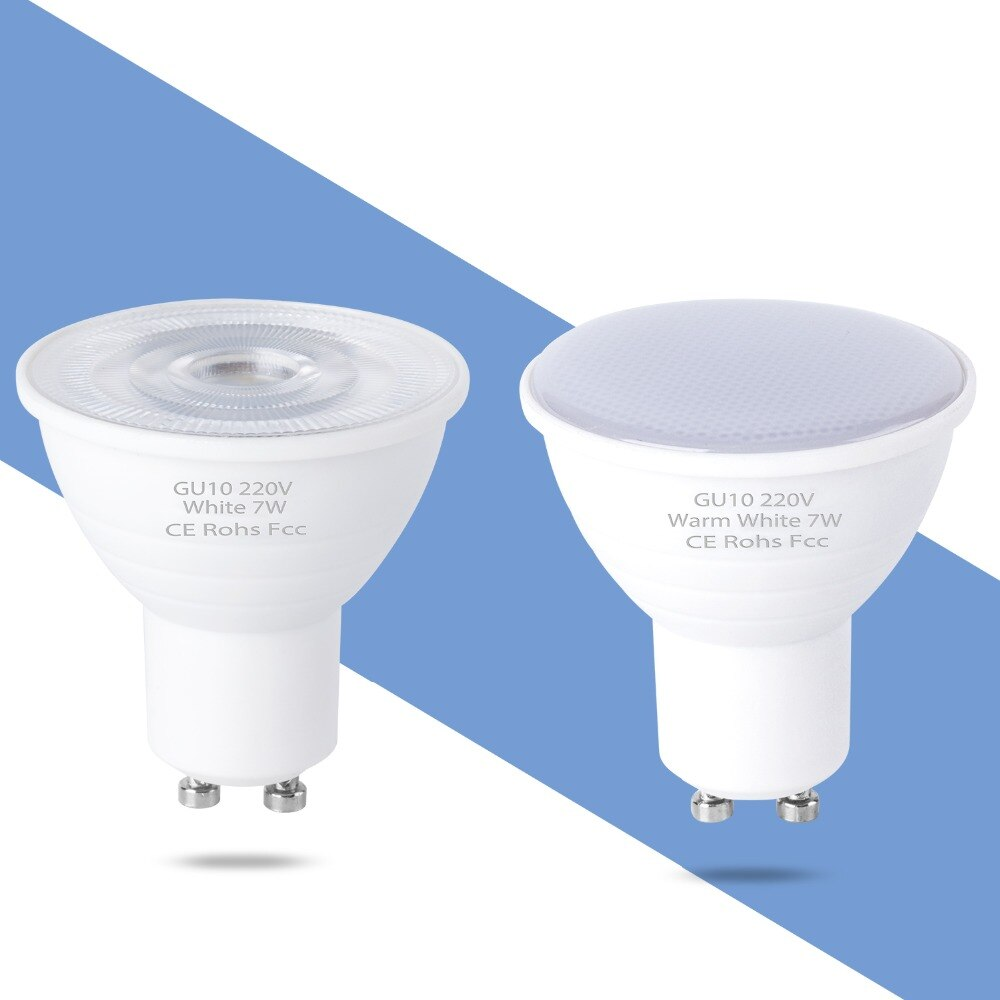 Foco bombilla GU10 LED lámpara 220V GU5.3 foco MR16 bombilla LED 5W 7W lámpara LED GU 10 ahorro de energía iluminación del hogar 6 12leds