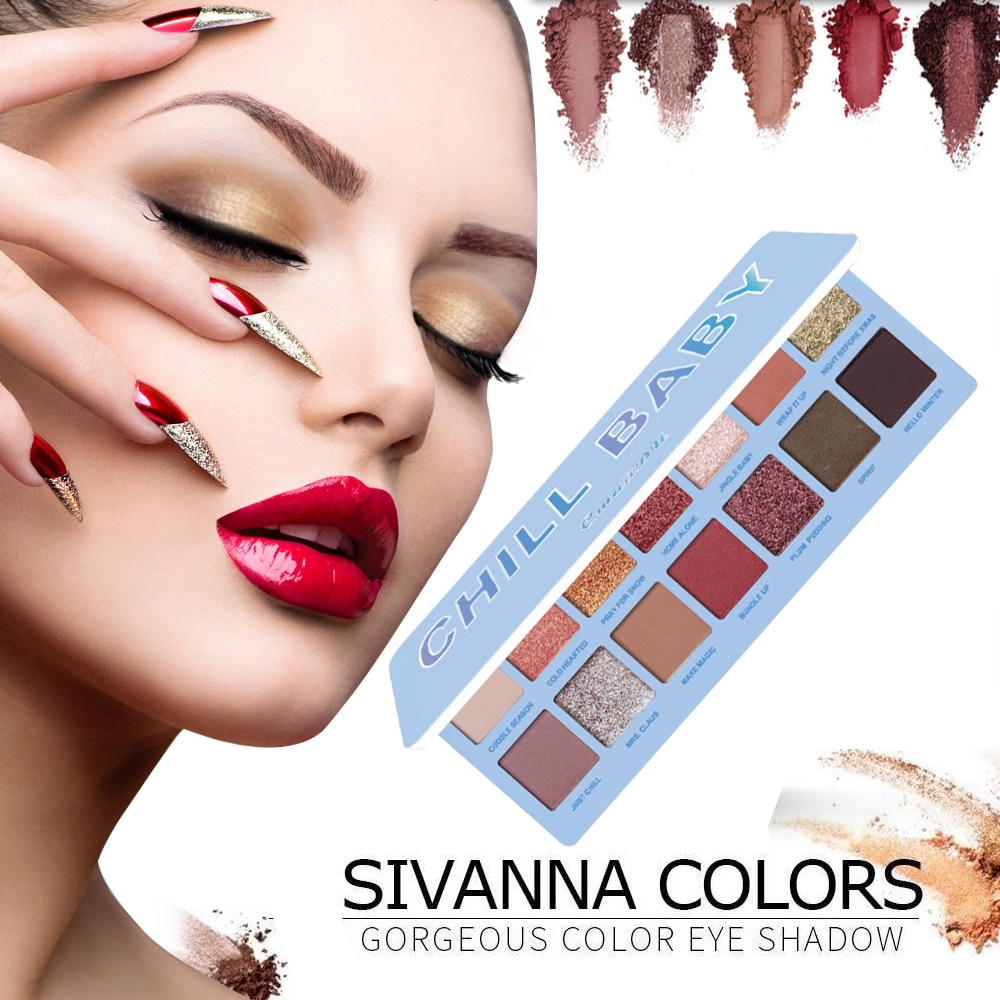 CmaaDu 14 Color Nude mate brillante paleta de sombra de ojos pigmento de purpurina ojo ahumado sombra impermeable Maquillajes párr Mujer TSLM2
