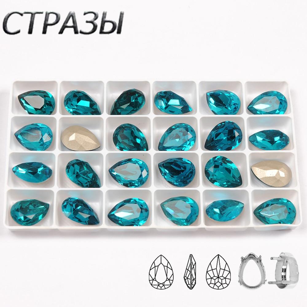 CTPA3bI Cristal de zirconia azul cosido de Strass Cristal de diamantes de imitación Diamante de fantasía piedra DMC piedras de joyería para la ropa del vestido de boda