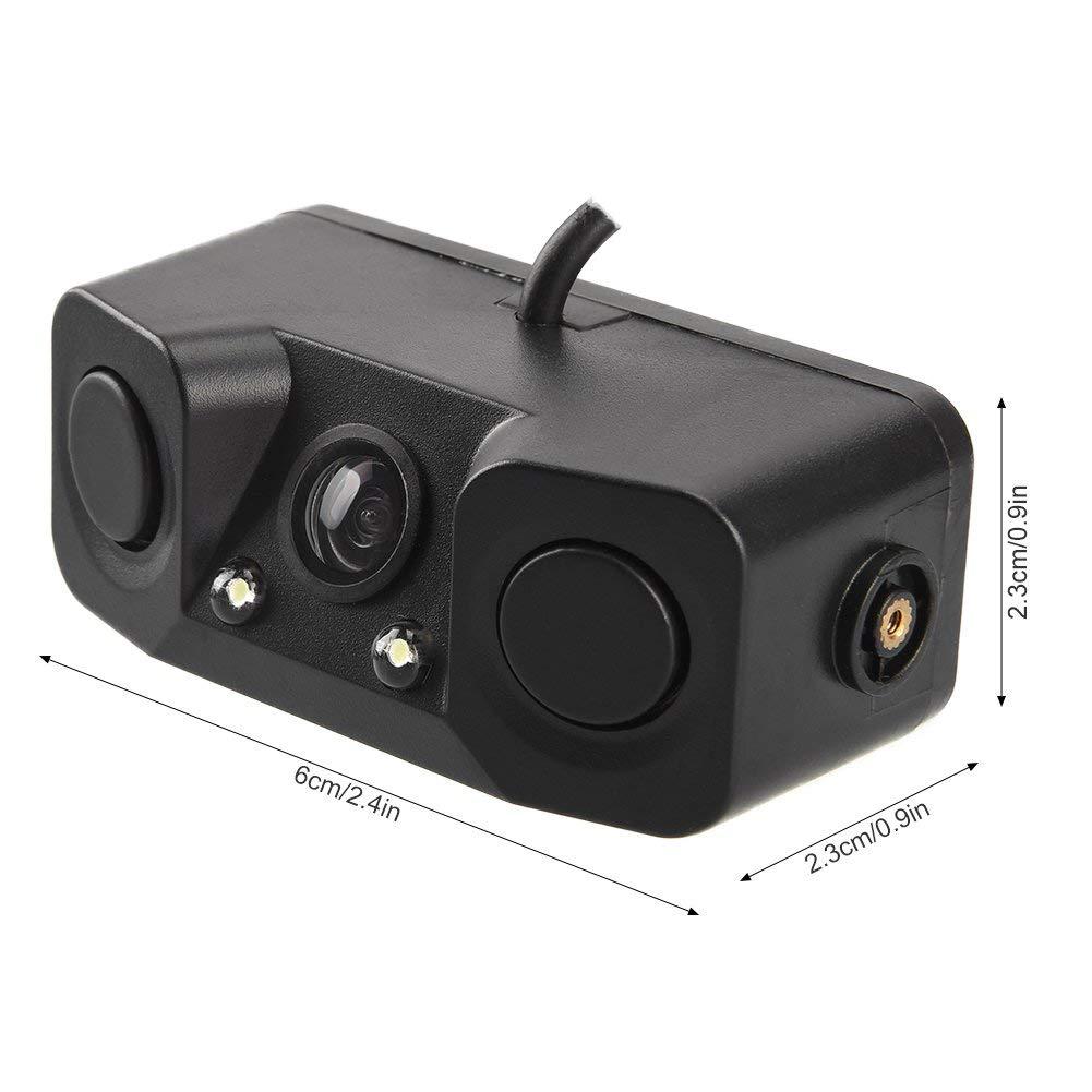 3 в 1 парковочные датчики для автомобиля с резервной задней камерой без сверления без повреждений для автомобиля, светодиодный датчик, датчик, звуковой сигнал, сигнализация, парк